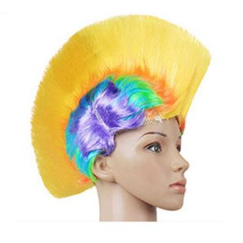Shiny Cockscomb Hair Punk Hair Cap LED Bright Wig