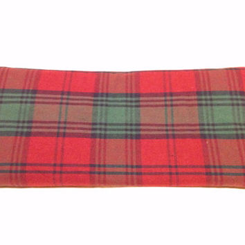 Hot Cold Pack, Herbal Pack, Heat Wrap, Organic, Flax Seed, Microwave Therapy, Heating Pad,Warming Pillow,Herbal, Ice Pack, Green & Red Plaid