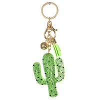 CAN'T TOUCH THIS CACTUS KEYCHAIN