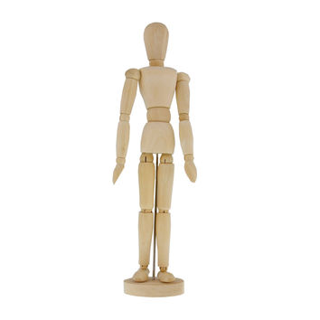 "US Art Supply Wood 8"" Artist Drawing Manikin Articulated Mannequin with Base and Flexible Body - Perfect For Drawing the Human Figure (8"" Female)"