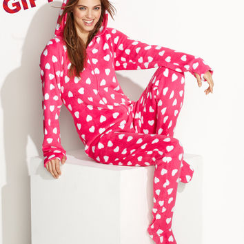 Jenni by Jennifer Moore Supersoft Hooded Footed Pajamas