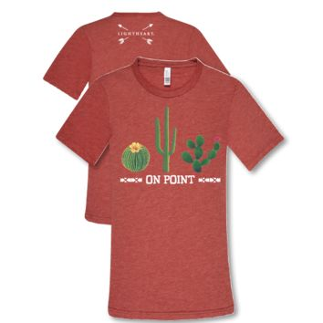 Southern Couture Lightheart Cactus On Point Triblend Front Print T-Shirt