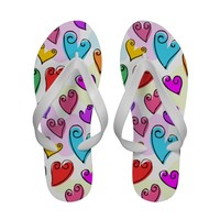 Fun Colorful Valentine's hearts Sandals