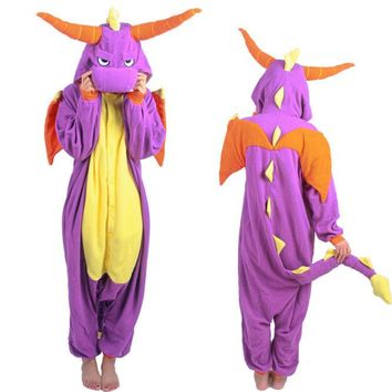 Spyro  Dragon  Pajamas  Anime  Cosplay  Pyjamas  Costume