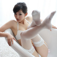 Hot Deal Cute On Sale Sexy Lace Transparent Stockings Slim Exotic Lingerie [6581041863]