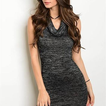 Cowl Neck Sweater Dress (2 Colors)