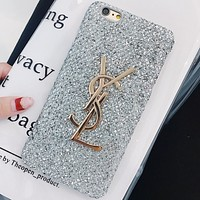 YSL Yves Saint Laurent Beautiful Fashion iPhone X Case Cover silver