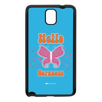 Sassy - Hello Gorgeous 10433 Black Silicon Rubber Case for Galaxy Note 3 by Sassy Slang