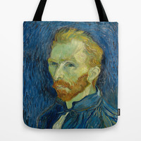 Vincent van Gogh - Self-Portrait Tote Bag by TilenHrovatic