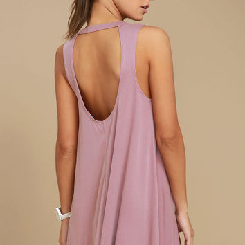 Chasing Sunshine Mauve Swing Dress