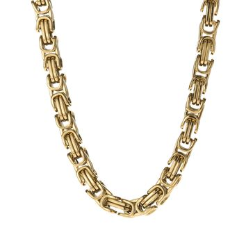 6mm Gold Byzantine Box Chain