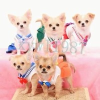 Anime Cosplay Sailor moon New Hot DOG CAT PET costume dress 20th anniversary