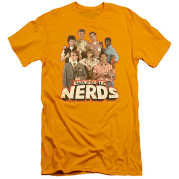 Revenge of the Nerds Group of Nerds Gold Fine Jersey T-Shirt