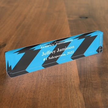 Acrylic Desk Nameplate, #1 Salesperson Nameplate