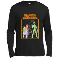 Awesome Alien Gift  Retro Don't Talk To Strangers UFO Long Sleeve Moisture Absorbing Shirt