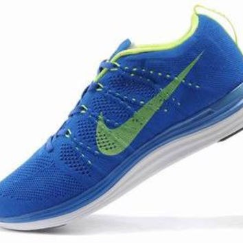 NFL011 - Nike Flyknit Lunar One (Blue/Lime Green)
