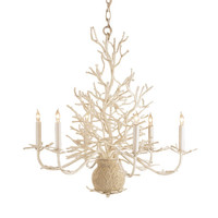 Seaward Faux Coral Chandelier