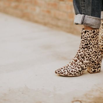 Matisse At Ease Leopard Bootie