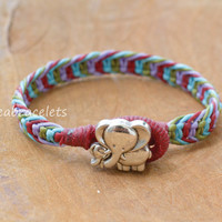 Friendship bracelets, Elephant bracelets, Multicolors bracelets, Colorful bracelets, Gift for any occasions, Macrame bracelets