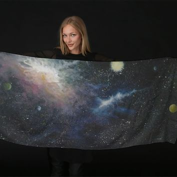Shades of space scarf