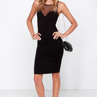 Forever Sweethearts Black Bodycon Dress
