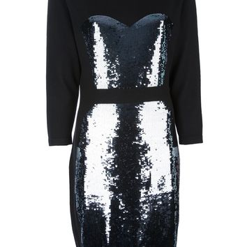 Markus Lupfer Sequined Sweater Dress