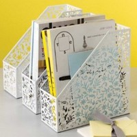 Design Ideas Vinea Magazine File/Holder, White