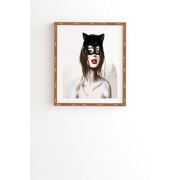 Deniz Ercelebi Cat Framed Wall Art