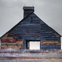 Old Granary with Loft, 8 X 10 photograph, Rustic, shabby chic, fine art photographic print