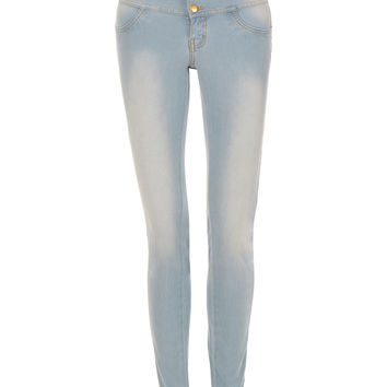 LE3NO Womens Lightweight High Waisted Skinny Denim Jeggings (CLEARANCE)
