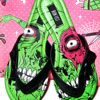 Iron Fist Zombie Stomper Sandals Green