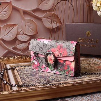 GUCCI WOMEN'S 2018 NEW STYLE LEATHER MINI DIONYSUS SHOULDER BAG