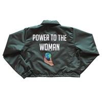 Power To The Woman Coach Jacket - Green