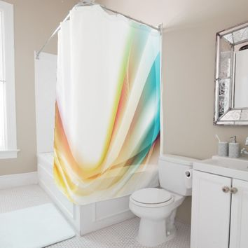 Abstract Swirl 2 Shower Curtain