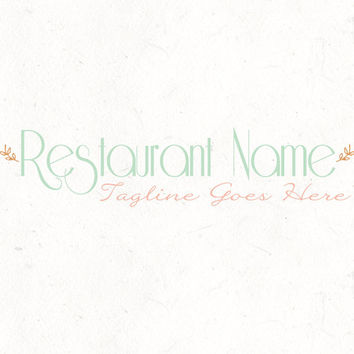 Logo design template | Restaurant Logo | Food Blog Header | instant download | digital download | psd file | DIY