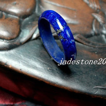 Natural lapis lazuli ring Wedding ring Engagement Ring  Original gemstone ring   sapphire blue( US size 4-10 )  - jade rings