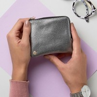 Mi-Pac Coin Holder in Pebbled Silver at asos.com