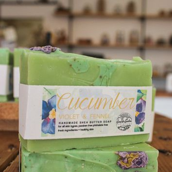 Cucumber Violet & Fennel - Handcrafted Soap Bar