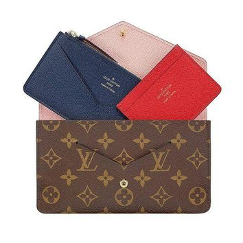 PEAPV2S Louis Vuitton Monogram Canvas Jeanne Wallet M62203 Rose Balleria Made in France