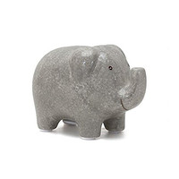 Elephant Mini Piggy Bank - 6-in - Grey