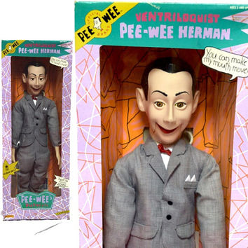 "Vintage 80s PEE-WEE Herman Ventriloquist 26"" Figure Doll Dummy Puppet NIB"