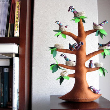 The tree of storks Felt Tree by Intres on Etsy