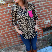 Leopard Tunic + Magenta Pocket