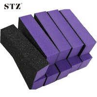 NEW 10pcs Purple 4 Side Block Nail Art Buffer Files Sandpaper Sanding For Acrylic Nail Manicure Pedicure
