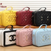 Double C Bag 6 Colors Women Shopping Leather Satchel Shoulder Bag Handbag Crossbody Style #9011-1 - Ready Stock Online