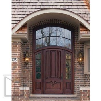 jeld-wen 2905 Entry System w 465 Mahogany Arch Top Door