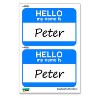 Peter Hello My Name Is - Sheet of 2 Stickers
