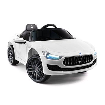 Maserati Ghibli 12V Electric Kids Ride-On Car with R/C Parental Remote | White