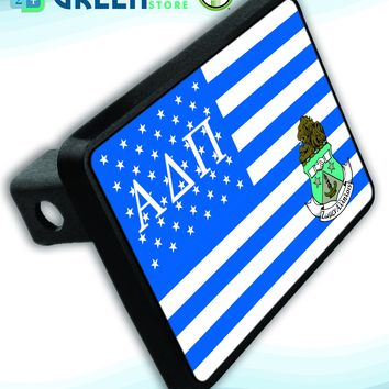 Alpha Delta Pi US Flag Style Hitch Plate
