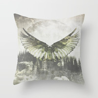 Wilderness in my heart Throw Pillow by HappyMelvin